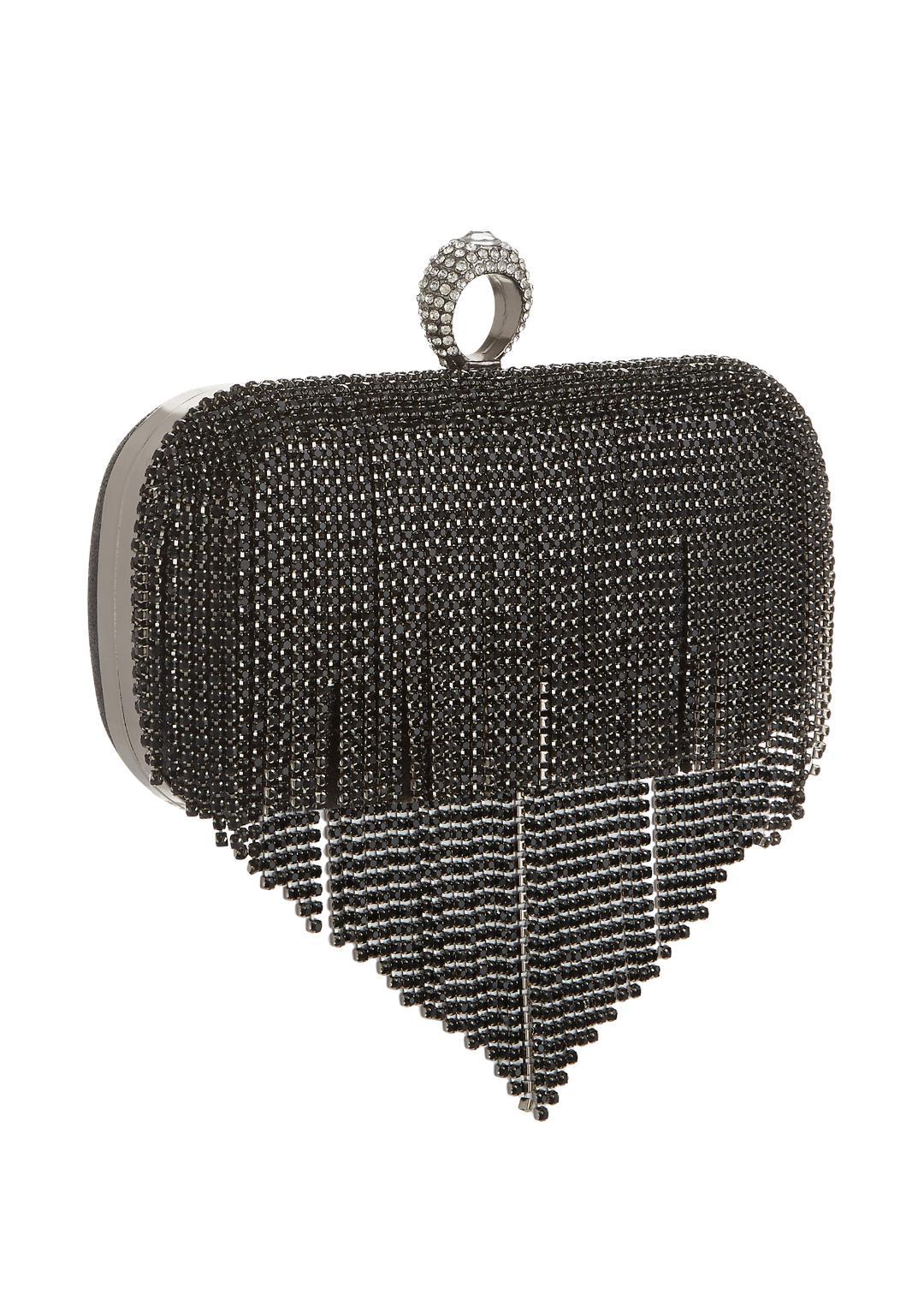 Mascara Black Waterfall Clutch Bag 1
