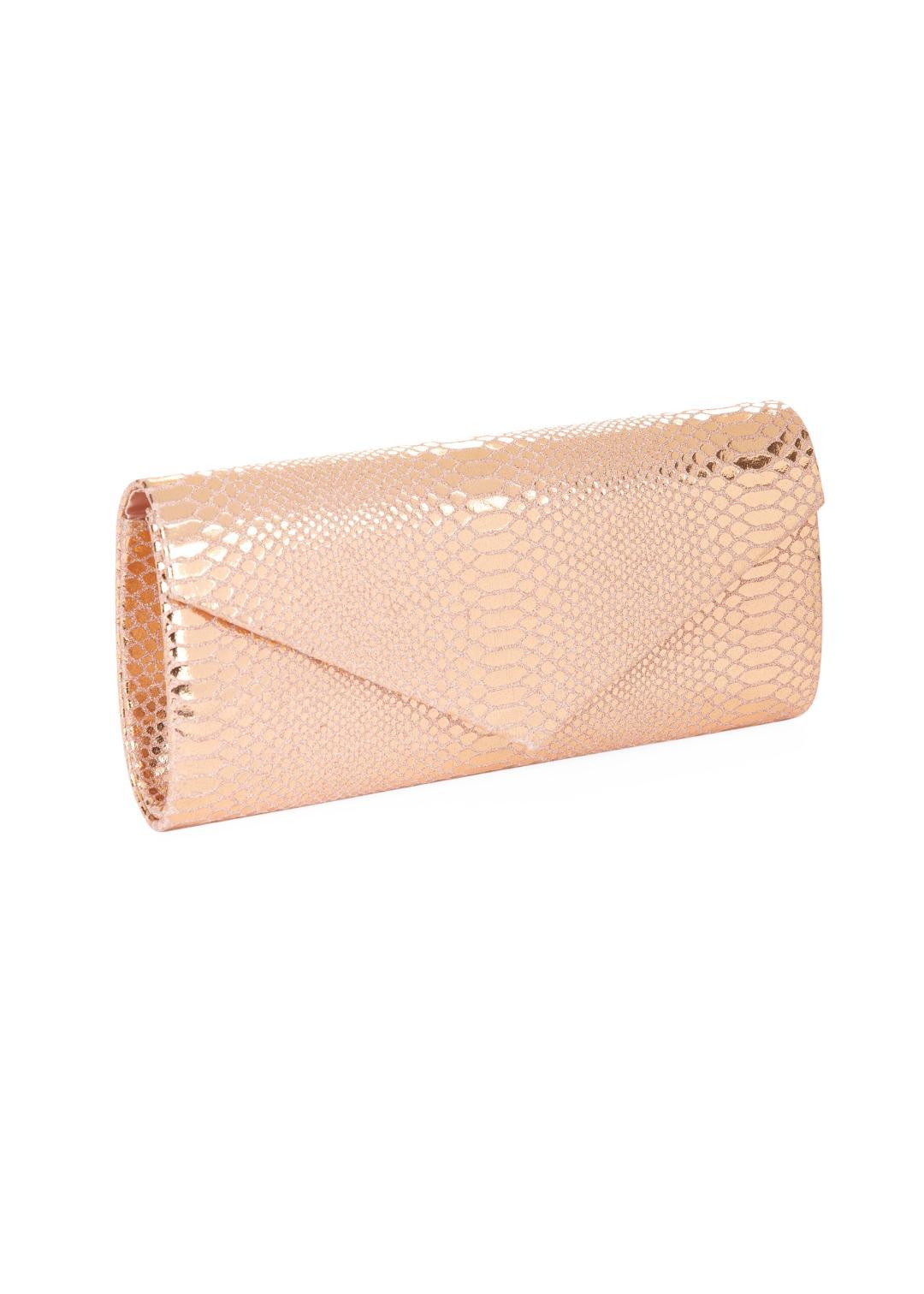 Mascara Rose Gold Snake Clutch Bag 1