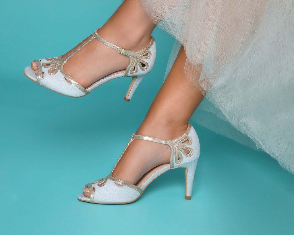 Perfect Bridal Esme Ultrasuede Pearl Grey 1