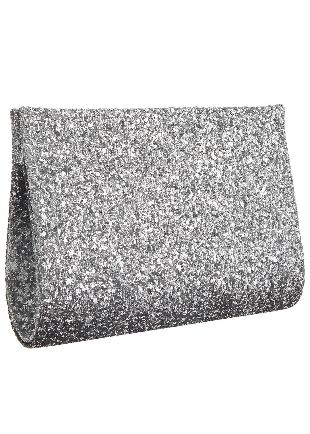 Mascara Silver  Ombre Clutch Bag 1