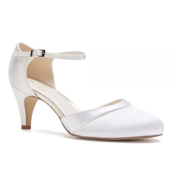 Pink Paradox Augustine - Dyeable Ivory Low Heel Court Shoe