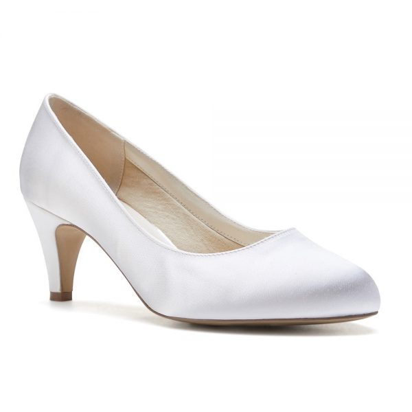 Pink Paradox Astra Wide Fit - Ivory Dyeable Satin Bridal Shoes