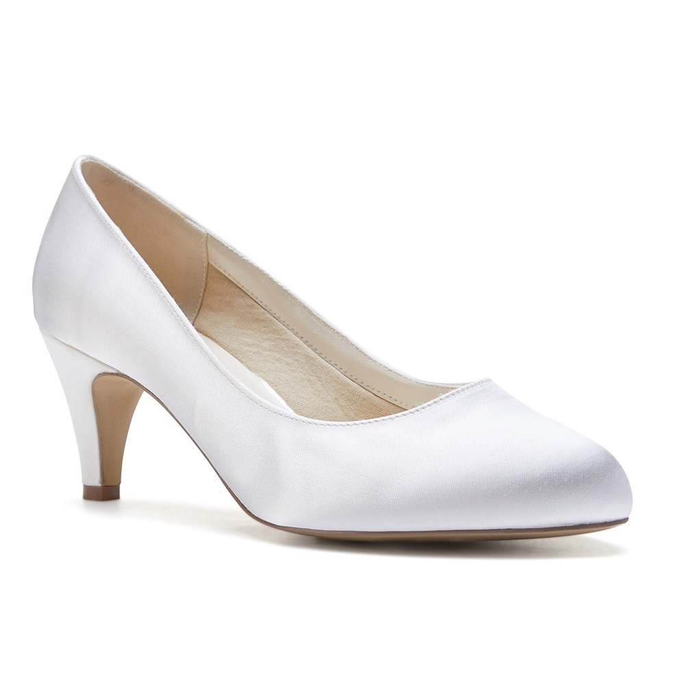 828411b01 Pink Paradox Astra Wide Fit - Ivory Dyeable Satin Bridal Shoes ...