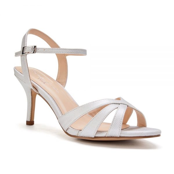 Pink Paradox Hero - Silver Low Heel Strappy Sandal