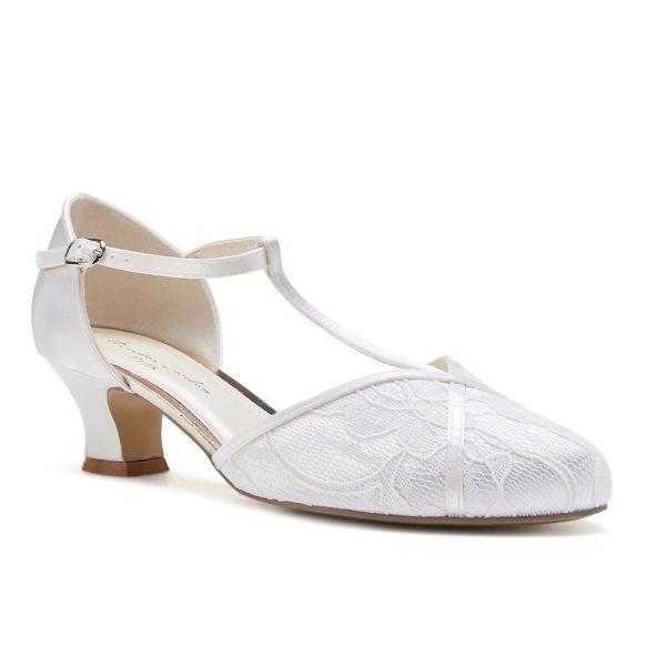 Pink Paradox Artisan - Dyeable Satin Low Heel T-Bar Sandal