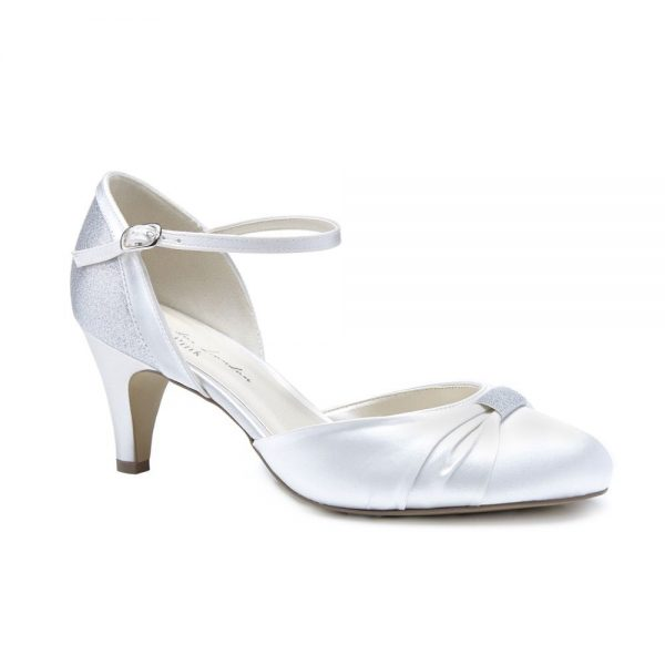Pink Paradox Annie - Ivory Low Heel Two-Part Court Shoe