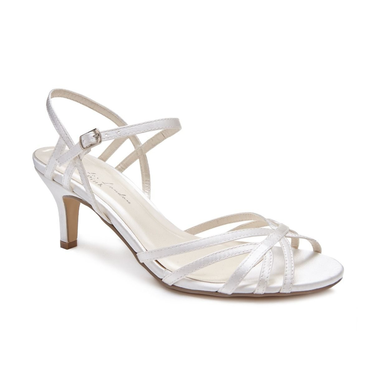 Pink Paradox Harper - Low Heel Ivory Strappy Sandal