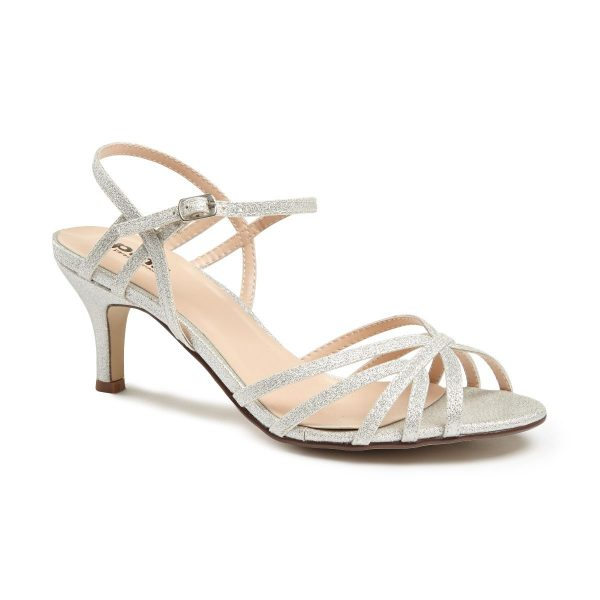 Pink Paradox Harper - Low Heel Silver Strappy Sandal