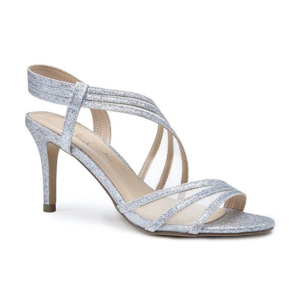 Pink Paradox Marina - High Heel Asymmetric Silver Sandal