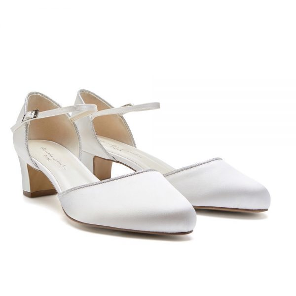 Pink Paradox Admire Wide Fit - Ivory Satin Bridal Shoes