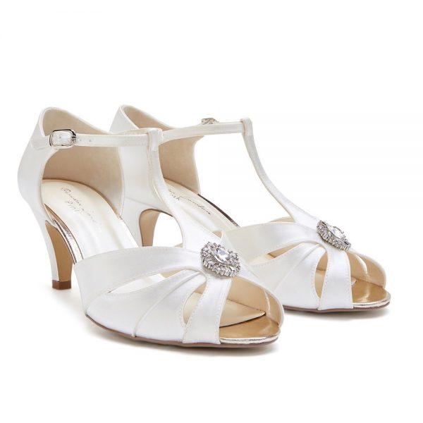 Pink Paradox Bonnie Wide Fit - Dyeable Low Heel T-Bar Sandal