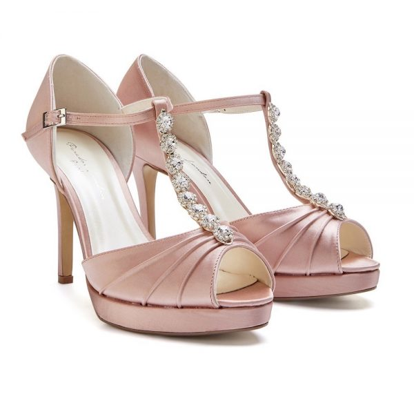 Pink Paradox Cindy - High Heel Blush T-Bar Platform Sandal
