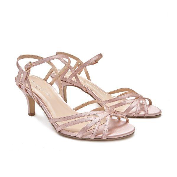 Pink Paradox Harper - Low Heel Blush Strappy Sandal
