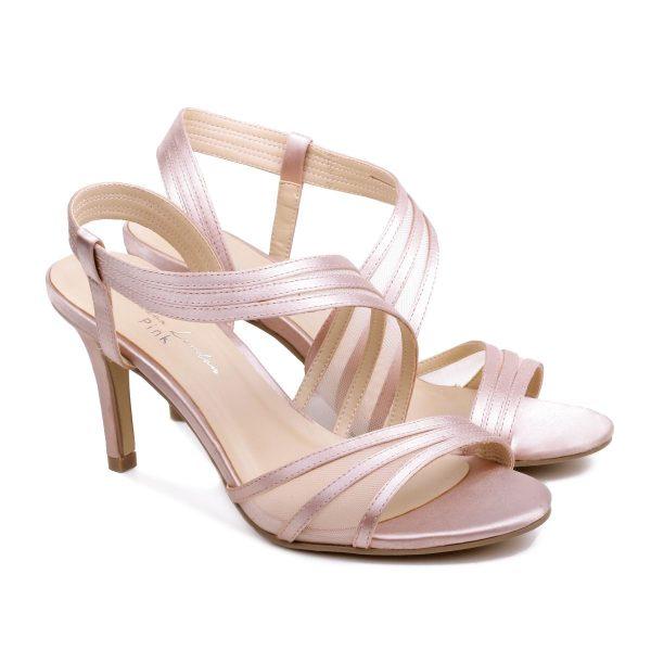 Pink Paradox Marina - High Heel Asymmetric Blush Sandal
