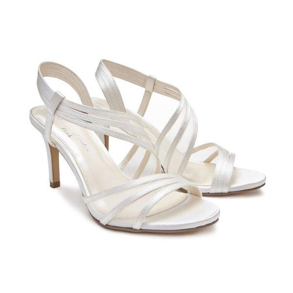 Pink Paradox Marina - High Heel Asymmetric Ivory Sandal
