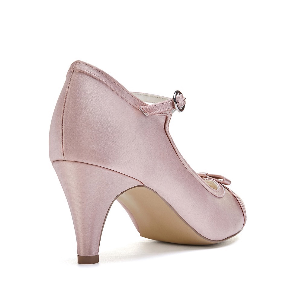 72e562476ff Pink Paradox April - Blush Low Heel Mary Jane - Crystal Bridal Accessories