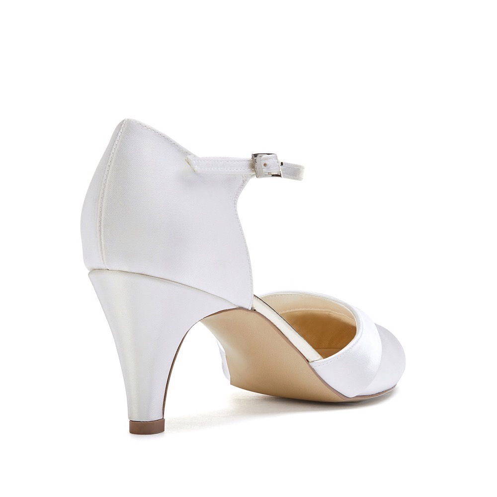8e6ba5b38 Pink Paradox Augustine - Dyeable Ivory Low Heel Court Shoe - Crystal ...
