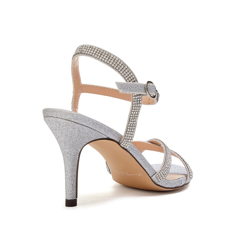Pink Paradox Riva - Silver Low Heel Ankle Strap Sandal