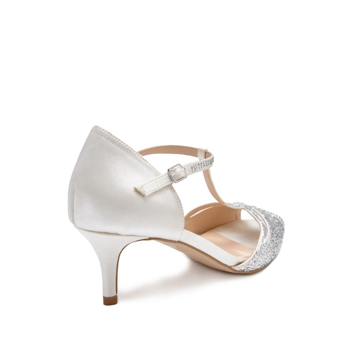 Pink Paradox Laili - Ivory T-Bar Shimmer Sandal