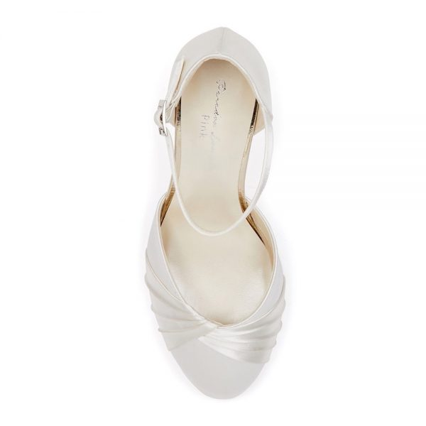 Pink Paradox Alina Wide Fit - Dyeable Ivory Low Heel Court Shoe