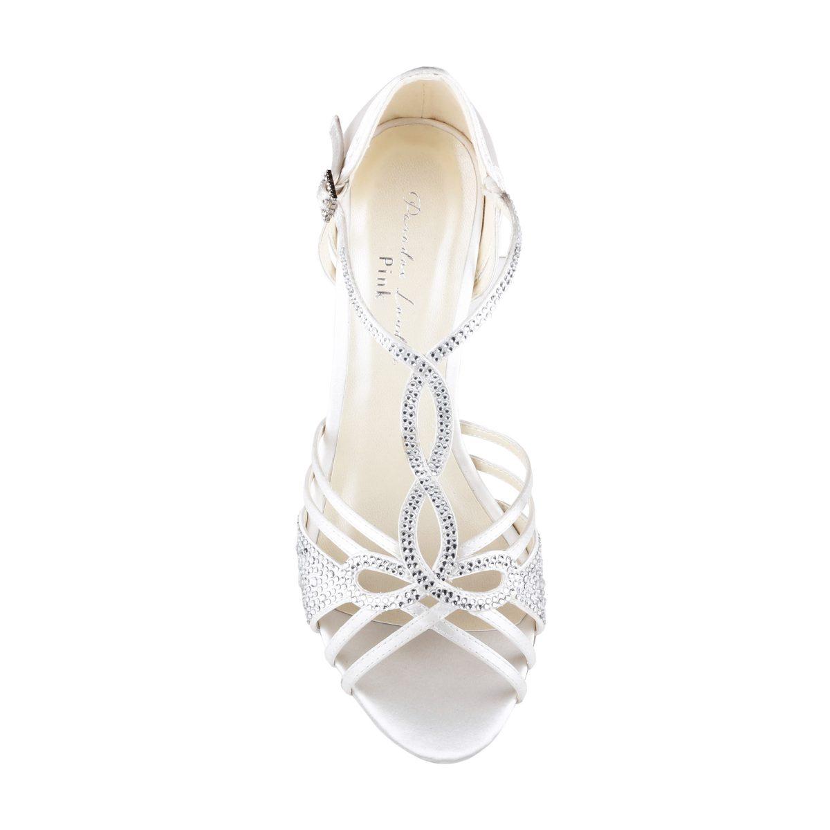 Pink Paradox Larissa - Ivory Satin Bridal Shoes