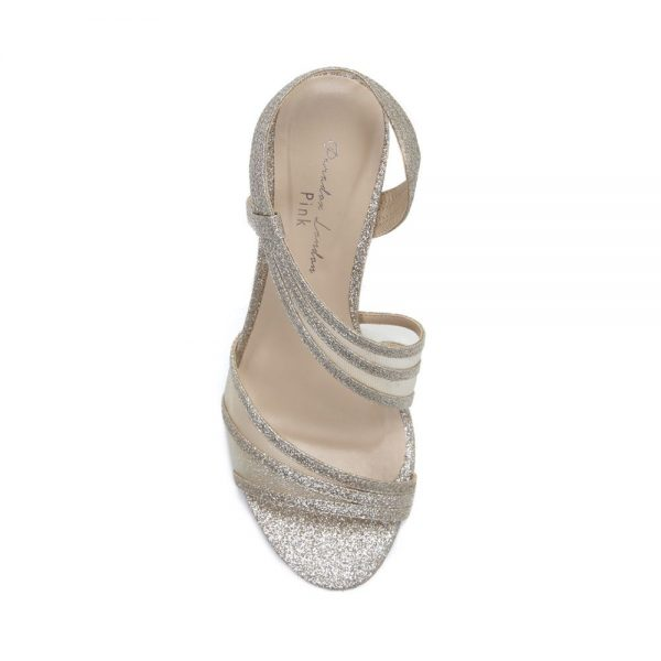 Pink Paradox Marina - High Heel Asymmetric Gold Sandal