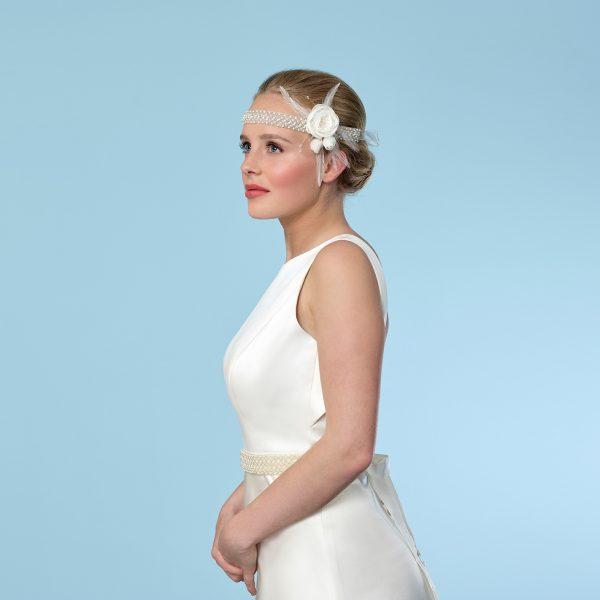 Poirier Adelise Bandana Pearl Headband