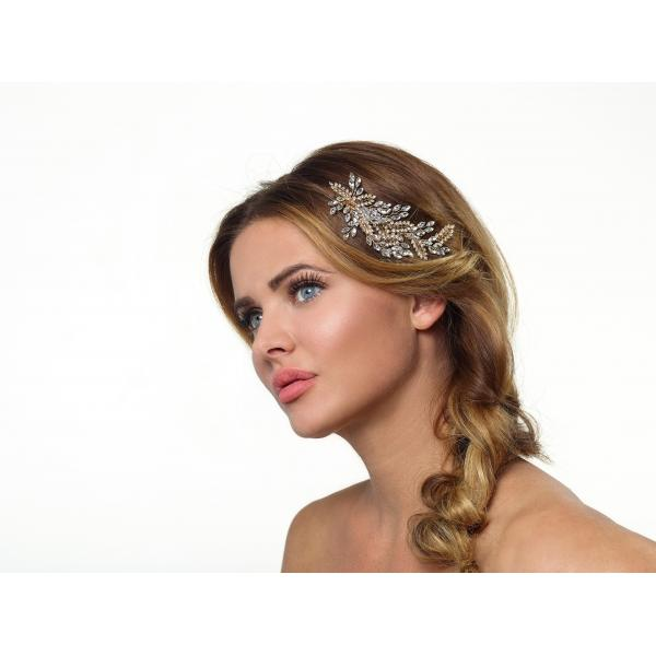 Poirier Aida Gold-coloured Floral Headpiece
