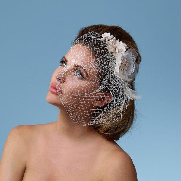 Poirier Alison Floral Corsage with Net