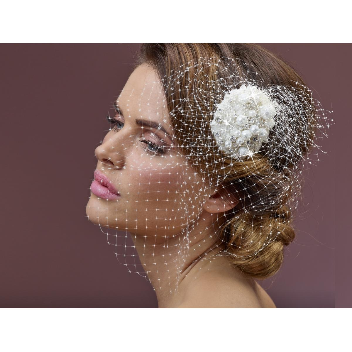 Poirier Aliyha Floral Comb with Net