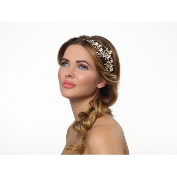 Poirier Arlene Flower Headband Gold-coloured