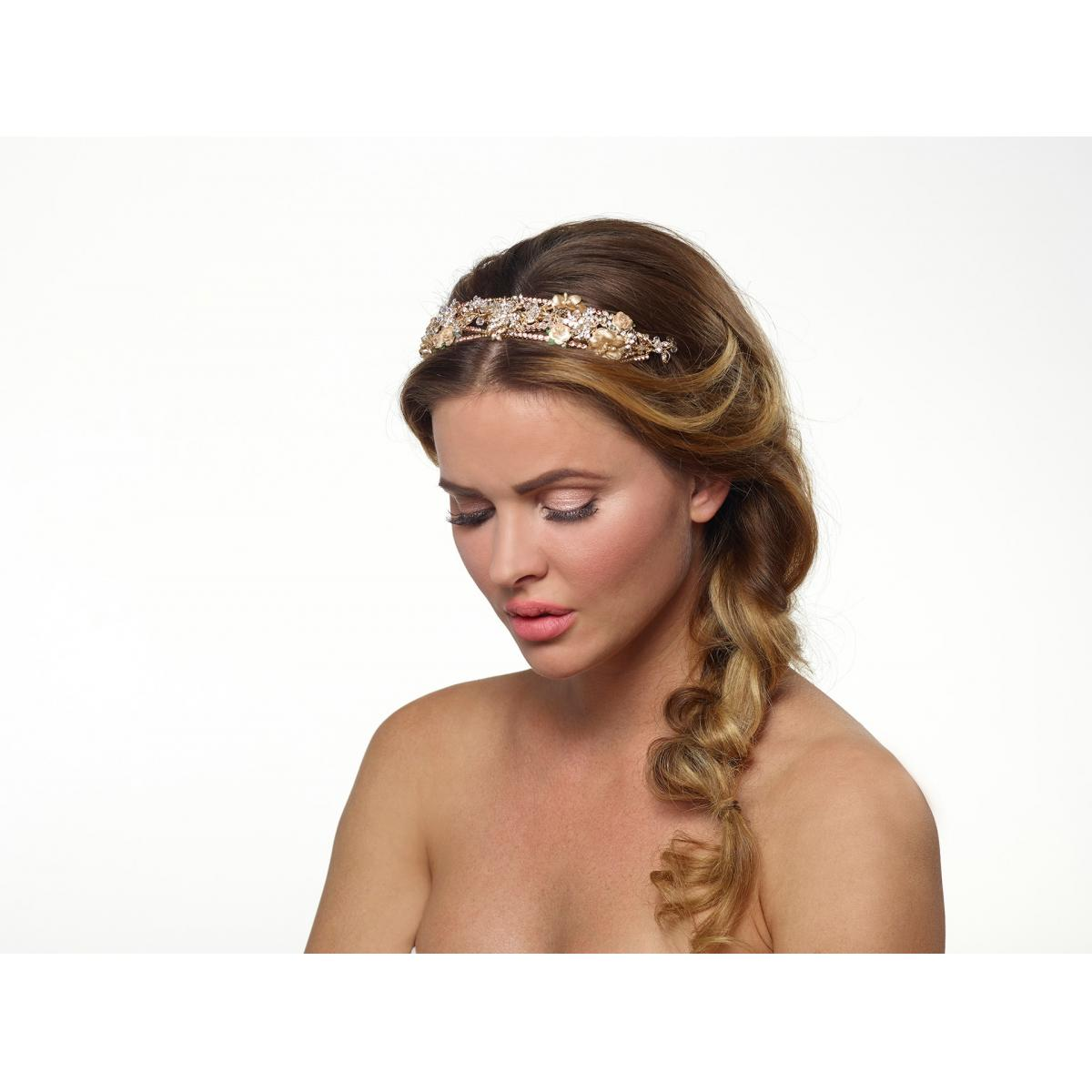 Poirier Alina Gold-coloured Flower Headband