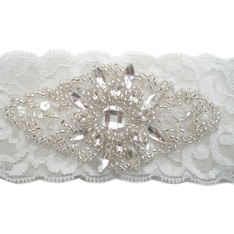 Crystal Wedding Garter: Bella Crystal Bridal Garter