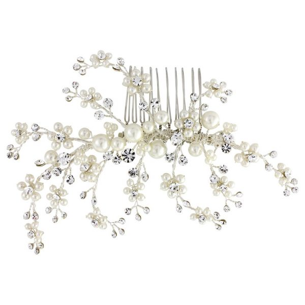 Betsy Pearl Spray Wedding Comb