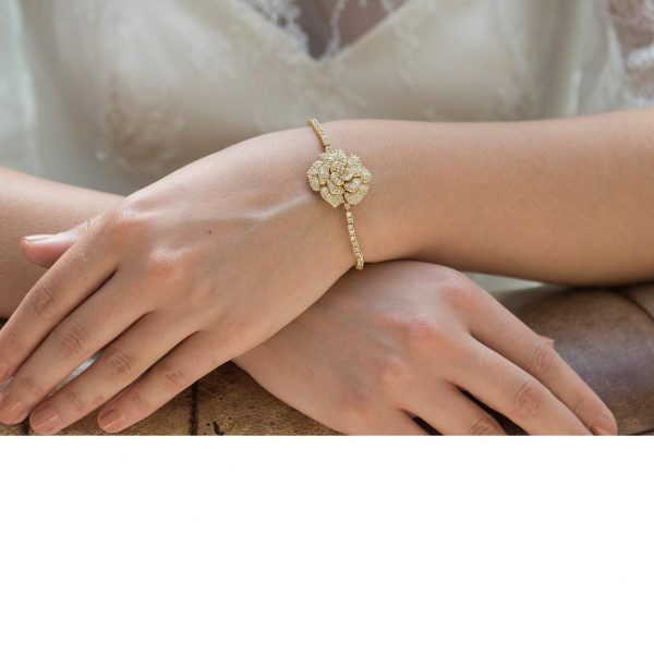Ivory and Co Blossom Gold Bracelet