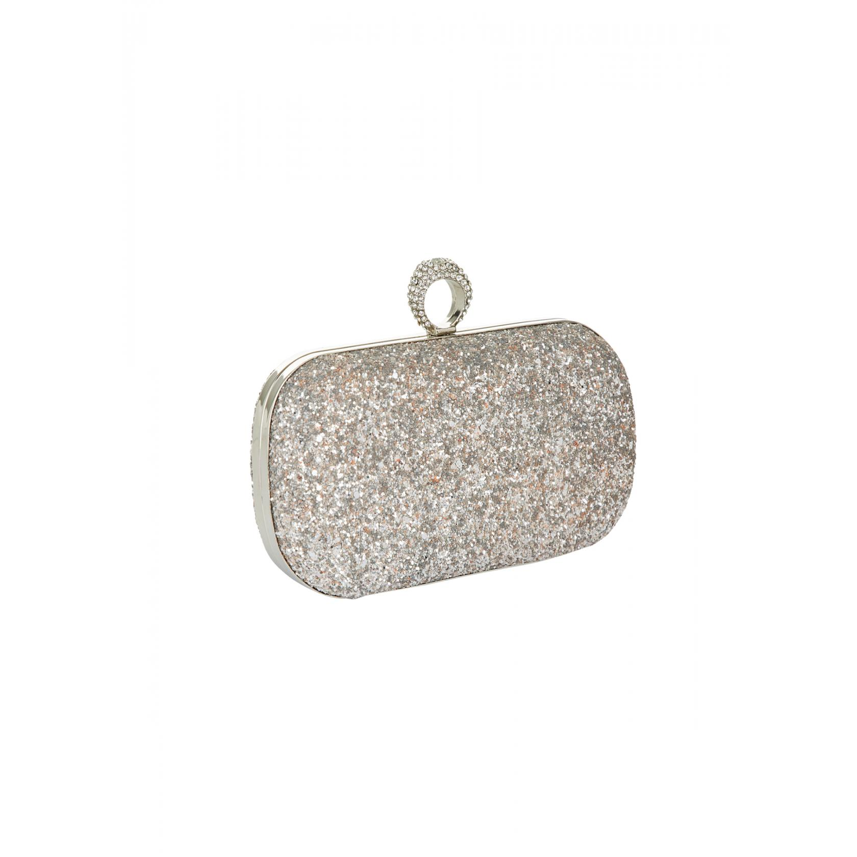 Mascara Silver Clutch Bag