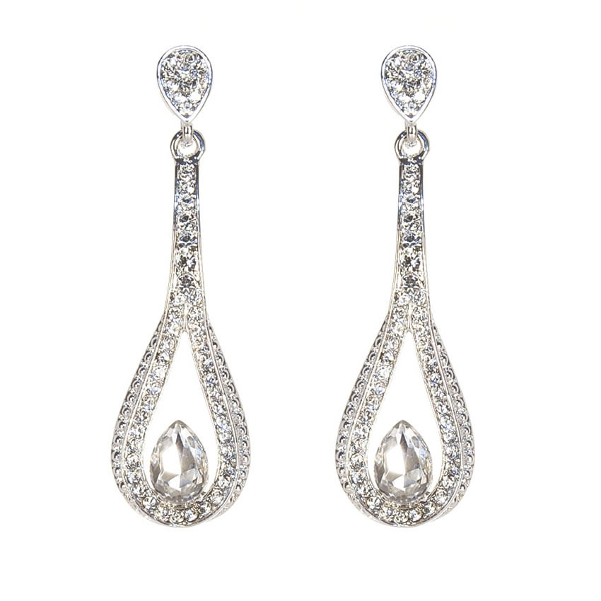 Cassis Crystal Loop Earrings