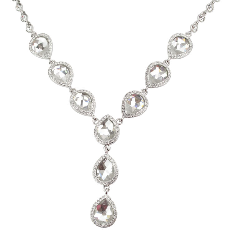 Chardonnay Crystal Necklace