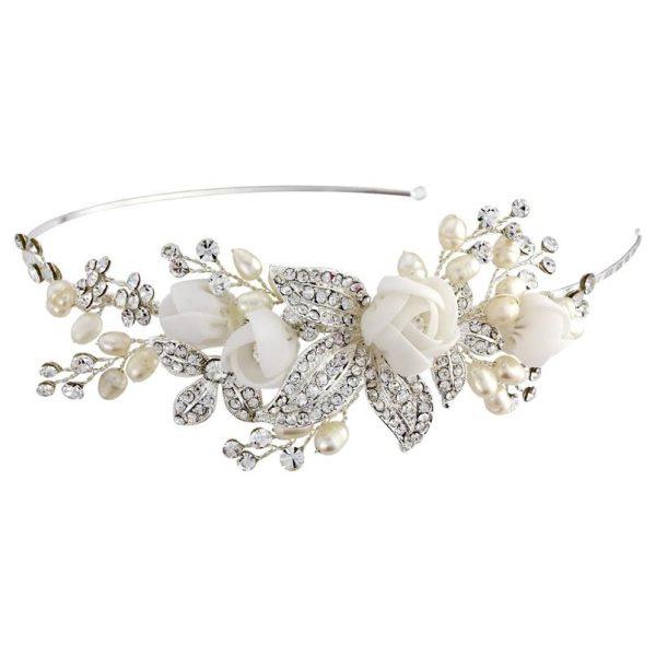 Clara Fabric Rose Headband