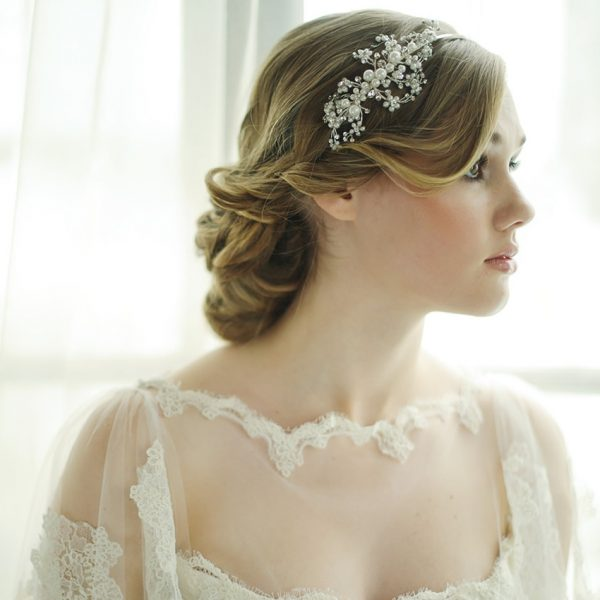 Darcey Pearl Spray Bridal Headband