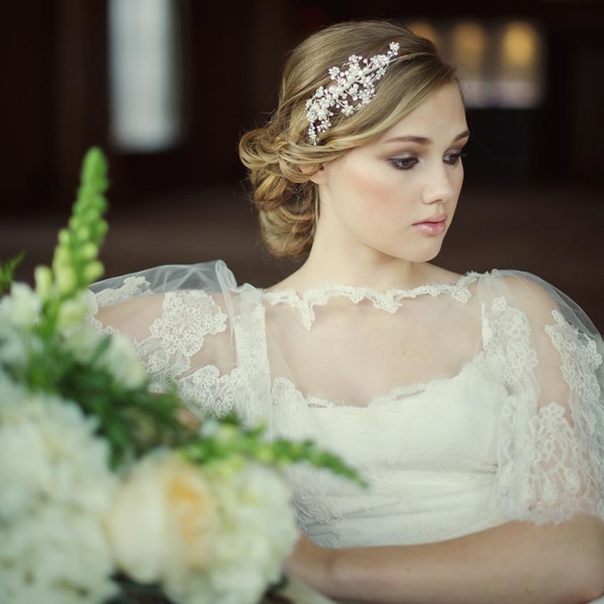 Darcey Pearl Spray Bridal Headband