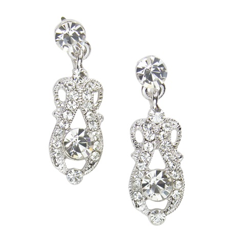 Elena Droplet Earrings - in Swarovski Crystal