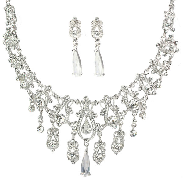 Elena Swarovski Luxe Bridal Necklace Set