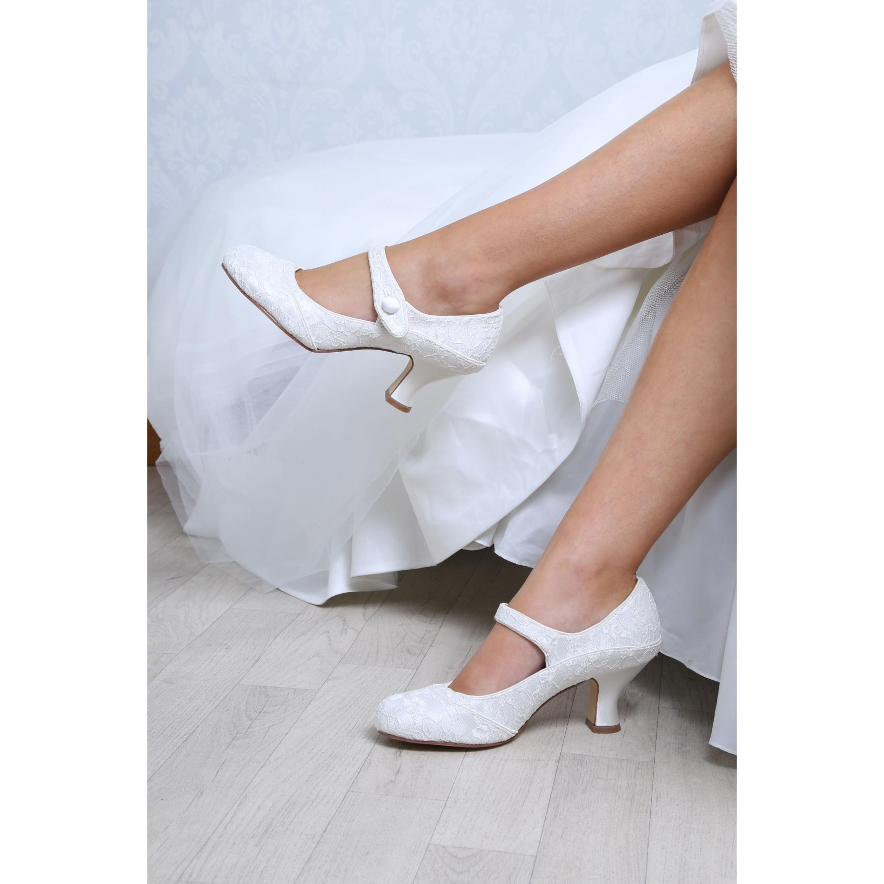 Perfect Bridal Esta Shoes - Ivory Lace