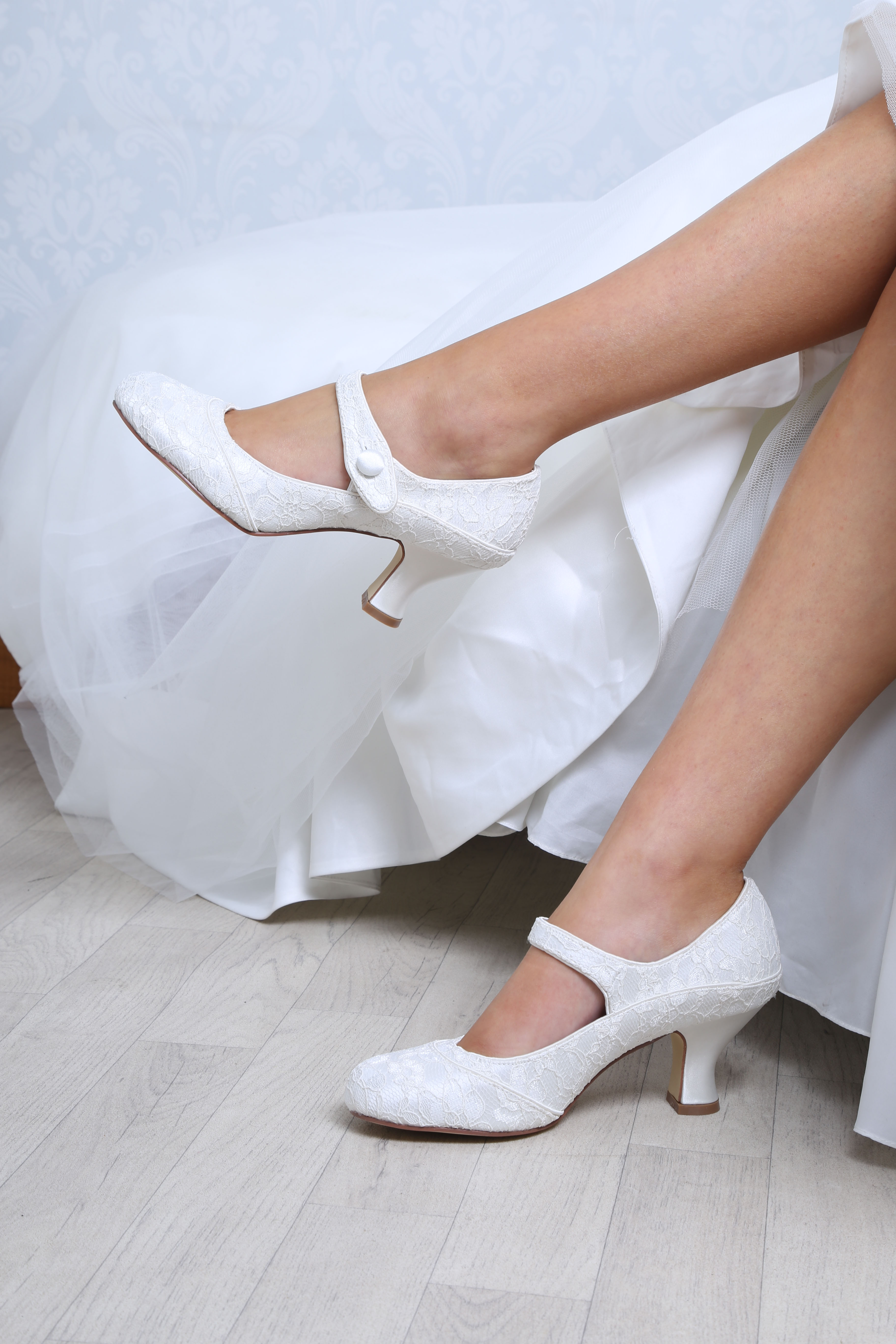 61397366f1a Perfect Bridal Esta Shoes - Ivory Lace - wide fitting - Crystal ...