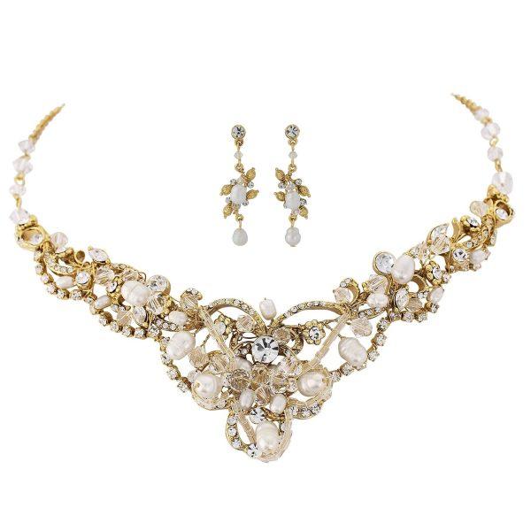 Exquisite Treasure Gold Bridal Jewellery Set