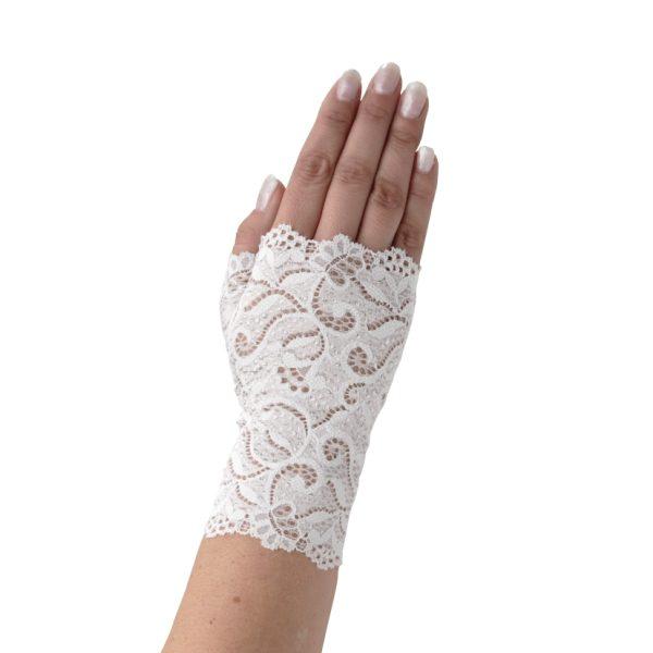 Poirier Fiala Fingerless Glove Ivory