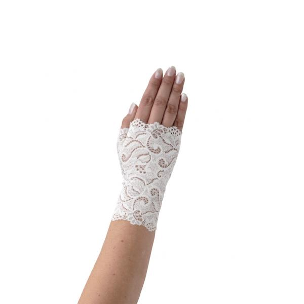 Poirier Fiala Fingerless Glove White