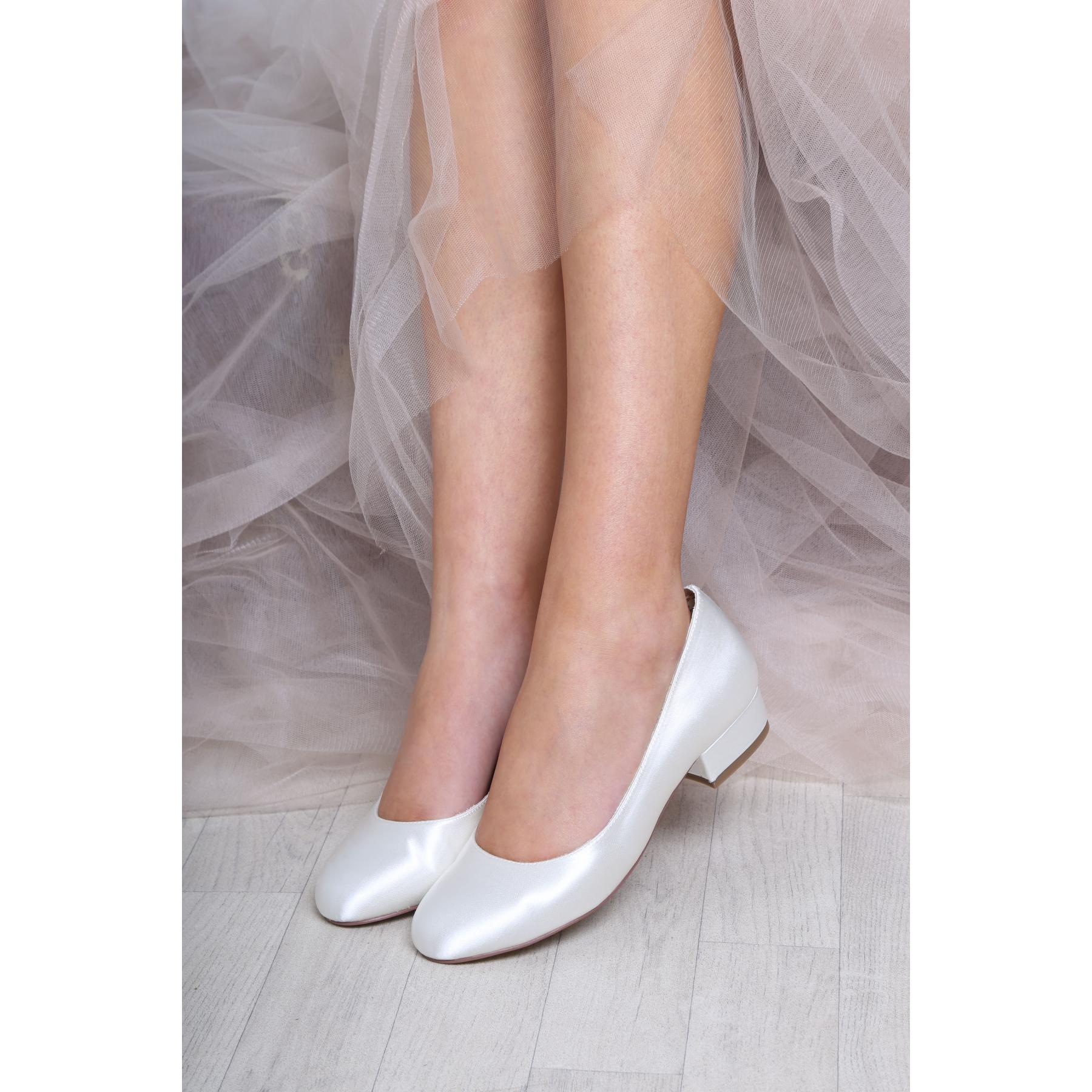 Perfect Bridal Fern Shoes - Ivory Satin