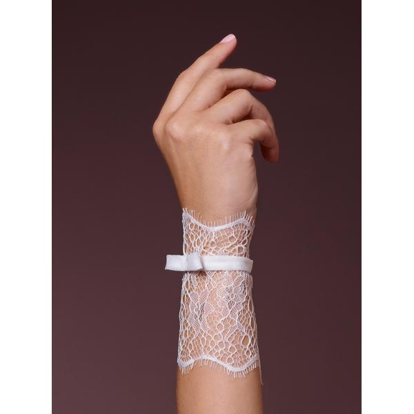 Poirier Fifi Lace Wristband with Bow